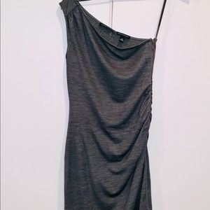 BANANA REPUBLIC One shoulder grey dress, Ruched